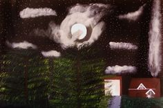 "Saatchi Art Artist Sandra Jones; Painting, ""Midnight Woods"" #art"