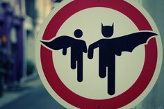 Superhero crossing