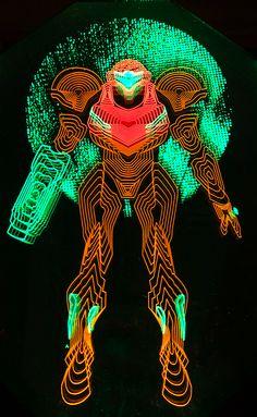 Neon Samus Light Art on Behance #Metroid