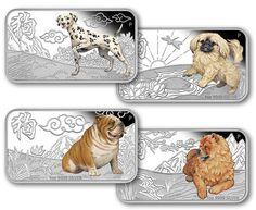 Lunar Calendar Coin Series 2018 Year of the Dog 1oz Silver Proof Four-Coin Set