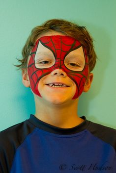 Spider Man Face Painting by Scott Hudson Photography, via Flickr