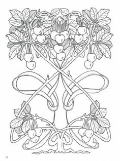 Embroidery designs, embroidery digitizing and FREE designs every week. New ideas, unique embroidery techniques and creative embroidery designs Motifs Art Nouveau, Motif Art Deco, Art Nouveau Design, Colouring Pages, Adult Coloring Pages, Coloring Books, Art Nouveau Illustration, Jugendstil Design, Photo Stitch