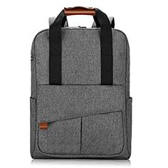 REYLEO Backpack Business Laptop Bag 15.6 Anti-theft Rucksack Casual Daypack with Leather Handle for Women Men - 24L / Light Grey