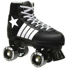 New Epic Black Star Indoor / Outdoor Classic High-Top Quad Roller Skate 3 Pc. Bundle (Kids by Epic For Sale Outdoor Roller Skates, Kids Roller Skates, Kids Skates, Quad Skates, Skate 3, Skate Store, Best Longboard, Best Gifts For Tweens, Tween Girl Gifts