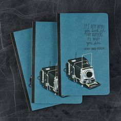 San Francisco based illustrator Lisa Congdon has designed a new journal filled with inspiring quotes from the masters of photography. Inside are 128 lined pages dotted with typeset quotations and loads of artwork.     You can pick up a copy of the journal over at Compendium.
