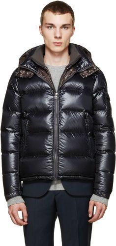 Moncler: Grey Down Zin Jacket | SSENSE