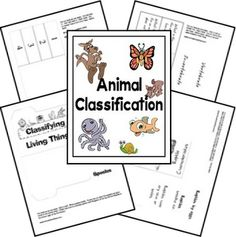 animal classification lapbook- this is great!
