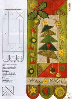 .very cute Christmas table runner-more applique but penny rug ends