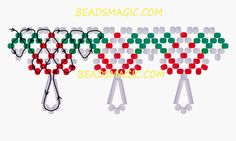 Free pattern for beaded necklace Amanita U need: seed beads 11/0 bugles