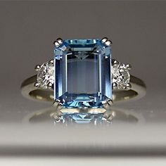Beautiful Sapphire Engagement Ring-I want something like this for an engagement ring when God decides to send my husband :) #DazzlingDiamondEngagementRings