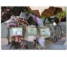 vintage hankie watchbands...so cute and clever