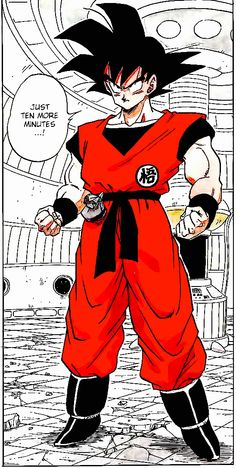 Goku's arrival on Namek. I also like the fact that Goku's wearing red instead of the Orange yellow. I like the red. #SonGokuKakarot