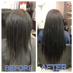 Hair extensions before and after by Anna