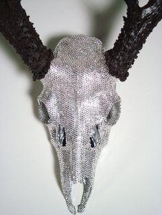 Swarovski Crystal Deer Skull Art Sculpture by MayaJadeCreations, $1995.00