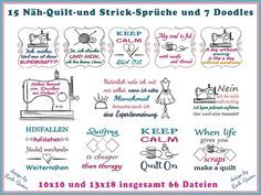 Stickdatei Stick Näh Quilt Sprüche Stickmuster von Rock-Queen auf DaWanda.com