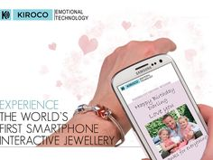 The Worlds First Smartphone Interactive NFC Jewellery by Kiroco — Kickstarter.  Kiroco jewellery is an innovative way of sending a special message, whether words, a photo or video, within a piece of jewellery that can only be viewed from the recipient's jewellery, by touching the jewellery with an NFC enabled Smartphone.  This world first method of sending secure messages to loved one's jewellery uses Kiroco's own Emotional Technology, which integrates an NFC chip within beautiful jewellery.