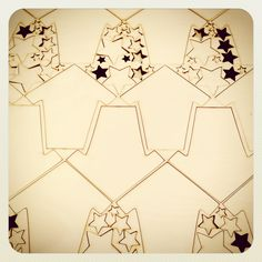 Houses and stars. A winning combination! Laser cut shapes by Craftshapes.co.uk. Steve :-)
