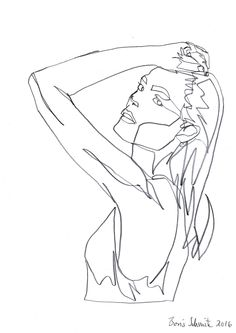 """body 2, continuous line drawing by Boris Schmitz"