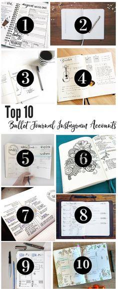 Top 10 Instagram accounts for bullet Journal Ideas! bullet journal ideas | bullet journaling ideas | how to bullet journal | bullet journal layout | how to start a bullet journal | bullet journal collections | bullet journal tips | bullet journal pages |