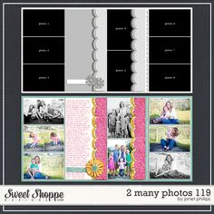 Sweet Shoppe Designs :: 2 Page Layout Templates :: 2 Many Photos 119 by Janet Phillips
