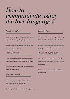 How to use the love languages to improve your relationship