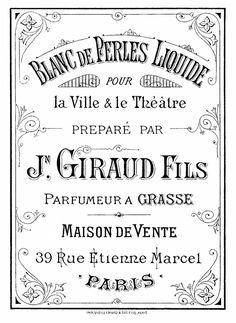 Vintage Perfume Label Image @Karen Jacot - The Graphics Fairy #free