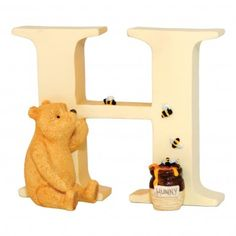 Winnie the Pooh Classic Alphabet Letters - Letter H Pooh with Bees