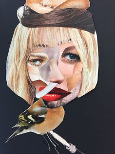 Portret: Collage van knipsels uit tijdschriften Diy Projects Magazine, Art Projects, Collages, Collage Artists, Face Collage, Magazine Collage, Best Bow, Fashion Face, Step By Step Drawing