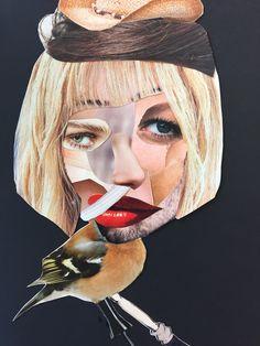 Portret: Collage van knipsels uit tijdschriften