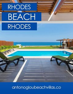 A luxury private collection of beautiful beachfront Villas, all with private access to the beach, amazing sea view and private pools. Rhodes Beaches, Beach Villa, Private Pool, Home And Away, Beautiful Beaches, Villas, Greece, Luxury, Outdoor Decor