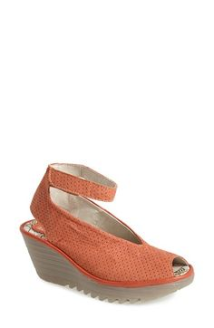 Fly London 'Yala' Perforated Leather Sandal available at #Nordstrom