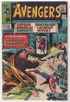 Avengers 18 Marvel Comics 1965 VG   eBay