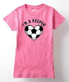 This Raspberry 'I'm a Keeper' Fitted Tee - Girls is perfect! Pink Fitness, Pink Workout, Raspberry, That Look, Tees, Girls, Mens Tops, Closet, Color