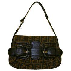Fendi 8BR551 Zucca B-Bag – Zucca/Black