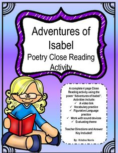 adventures of isabel poem pdf