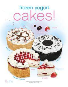 Yogen Fruz froyo cakes