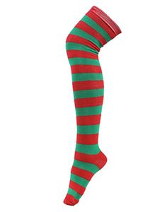 New Women's Stocking Thigh High Over the Knee Socks Red and Green StripesThickness: ThickMaterial : lambs woolQuantity: 1 pairVery soft and comfortableIn the winter to protect your knees and legsReady to ship! Opaque Stockings, Lady Stockings, Striped Socks, Knee Socks, Green Stripes, Thigh Highs, Christmas Clothing, Pairs, Legs