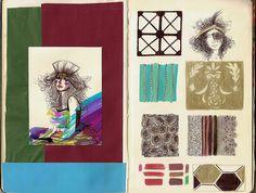 Sketch Book Collage Book, Book Art, Sketchbook Pages, Sketchbook Inspiration, Camila, Digital Collage, Pretty Pictures, Paper Goods, Illustrators