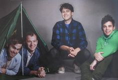 """going camping"" (via heybaio, teamvampireweekend, Tumblr) This is like the best/worst Olan Mills/school picture-style shot."