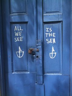 all we see is the sea // blue doors