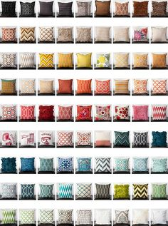 Pillows, pillows, pillows!  Surya has them in every color and pattern to suit your style.