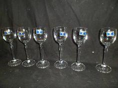 jogo de taças de licor bohemia em cristal-linha brigitta