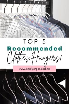 Clothes hangers. The Top 5 recommended clothes hangers by professional organizers. Hangers clothes. Hangers clothes closet organization. Closet hangers ideas. Closet hanger organization. Closet hangers organizer. Closet hanger hacks. Closet organization ideas. Closet organization designs. Closet organization hacks. #clotheshangers #hangersclothes #hangersclothesclosetorganization #closethangersideas #closethangerorganization #closethangersorganizer #closethangerhacks #closetorganizationideas Dresser Drawer Organization, Small Closet Organization, Closet Storage, Life Organization, Closet Hangers, Clothes Hanger, Life Hacks Diy, Best Hangers, Dresser In Closet