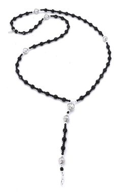 ChloBo Black Sparkly Rosary Necklace £155.00