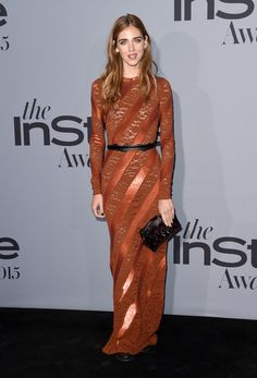 Chiara Ferragni in Louis Vuitton attends the InStyle Awards at Getty Center on October 26, 2015