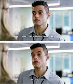 Robot ) me at work Rami Said Malek, Rami Malek, Mr Robot, Tv Show Quotes, Movie Quotes, Night At The Museum, Funny Posts, Movie Tv, Tv Series