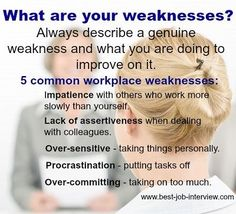 Free Interview Answers To Tough Job Interview Questions. What Are Your  Weaknesses?