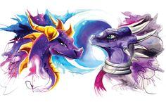 Cynder and Spyro by Lucky978.deviantart.com on @DeviantArt