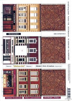 jgdsf Paper Doll House, Paper Houses, Free Paper Models, Paper Structure, Paper Architecture, House Template, Putz Houses, Glitter Houses, Model Train Layouts