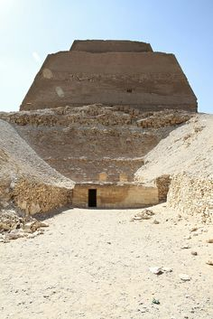 The pyramid at Meidum. Fayum Egypt